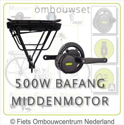 Ombouwset met 500W Bafang Middenmotor Bafang BBS 500W Drageraccu 01