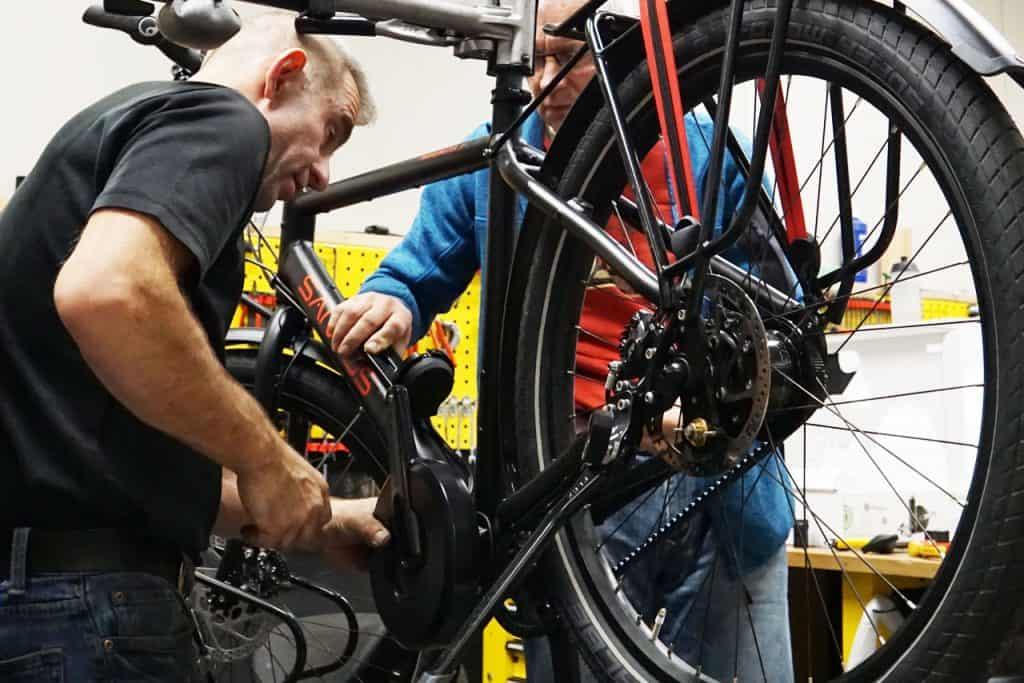 Santos Travel Master 3 ombouwen naar Electrische fiets met Pendix bij Bikefeeling 01
